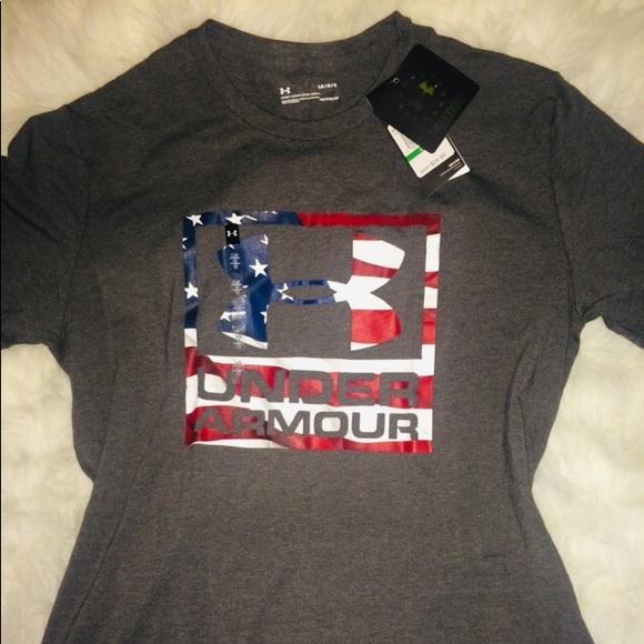 511836802 Under Armour Shirts | Gray Freedom Edition Mens Shirt Lg | Poshmark